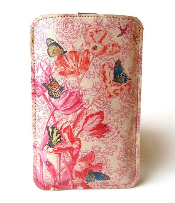Leather iPhone (All) iTouch (All) case -  Spring design