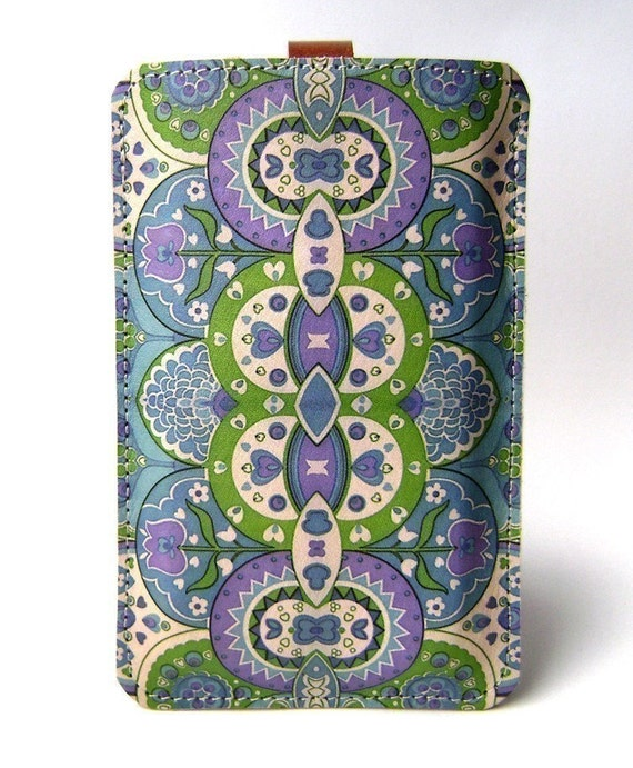 Leather iPhone/iTouch/HTC (Desire/Mozart) Case - Paisley inspired design