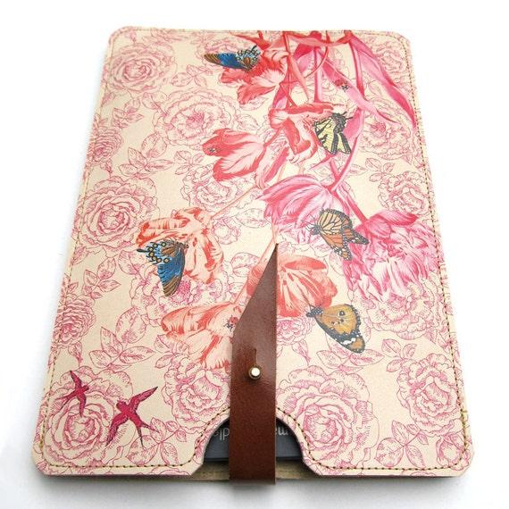 Leather Kindle Case- Springtime