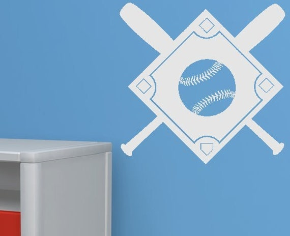 Baseball Field vinyl decal sticker