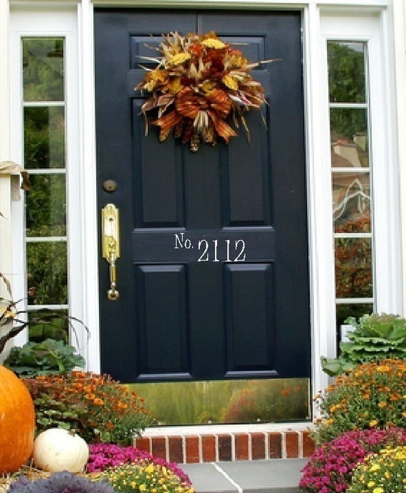 Front Door House Numbers Free Shipping 4x10 Wall Words Decals