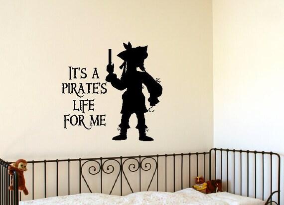 Pirate  vinyl wall words decals sticker art graphics