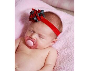 Ohio State Baby Korker Boutique Headband - Team Spirit Bows - Cheerleader Costume