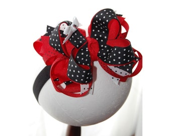 Mouse Magic Layered Boutique Baby Toddler Headband Hair Bow