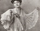 INSTANT DOWNLOAD-1900s downton abbey era crochet pattern for pretty shawl-pdf email delivery