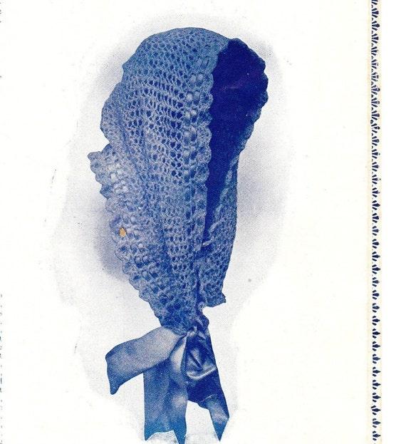 1890s head shawl scarf vintage knitting/crochet pattern PDF