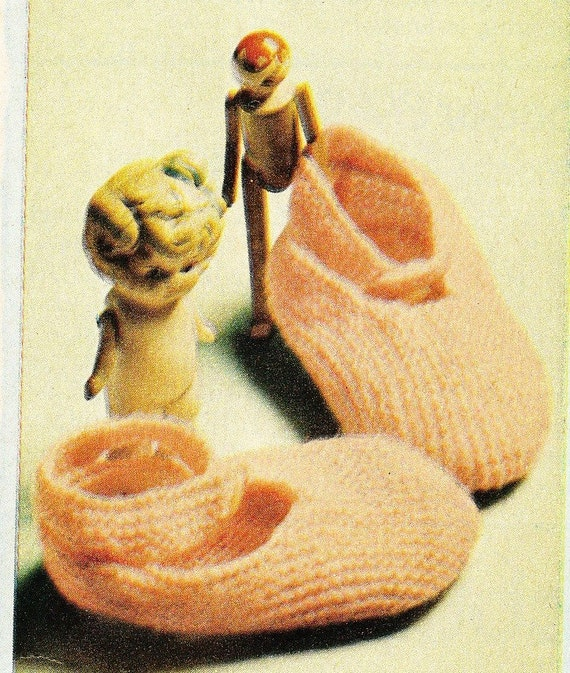 very easy vintage baby booties knitting pattern pdf