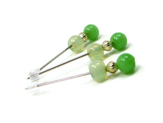 Counting Pins Marking Pins Soft Green Cross Stitch Needlepoint Hardanger