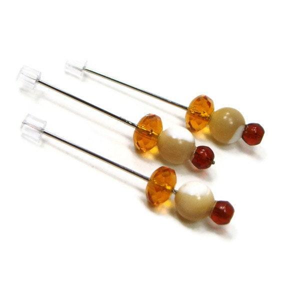 Counting Pins Marking Pins Golden Seashell Cross Stitch Needlepoint Hardanger