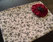 HELP FOR HAITI -- Classy Zipped Pouch