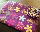 HELP FOR HAITI -- Flowers Zipped Pouch