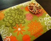 HELP FOR HAITI -- Garden Zipped Pouch
