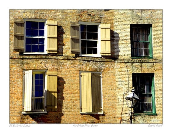 Items Similar To New Orleans French Quarter Photograph Print 11x14 Old Brick New Shutters On Etsy