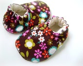 Elvira Toffee - Soft Soled Cloth Baby Shoes