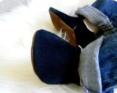 Soft Soled Baby Shoes - Black Corduroy