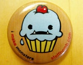 """Cupcake Logo 1"""" Button"""