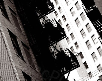 Downtown Detroit Black and White Fine Art Photograph