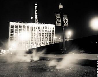 Fox Theater Detroit Sepia Urban Photography 18x24