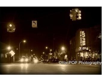 Royal Oak, Mi Downtown  Fine Art Photograph on Metallic Paper