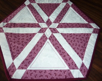 Burgandy and Rose Table Topper