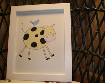 Framed picture/little moo