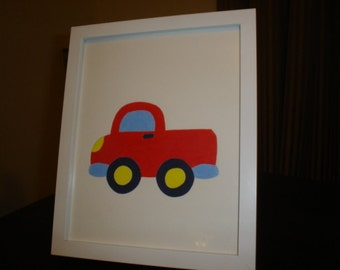 Framed picture/toy truck