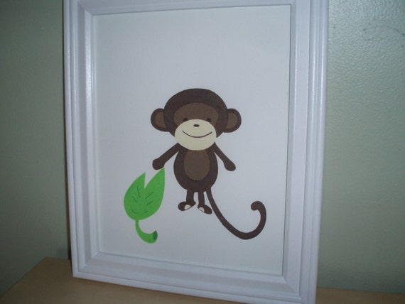 Framed picture/monkey