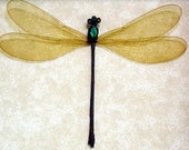 Real Framed Damselfly Dragonfly Metallic Green Female Insect 8027