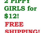 SALE - Pick any two Pippy Girl Flower Art Prints
