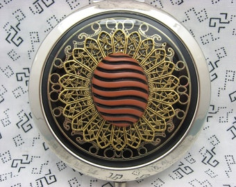 Compact Mirror Makeup Mirror Pocket Mirror Bridesmaid Maid of Honor Gift Bridal Shower Favors Comes With Protective Pouch Swirly Stripes