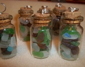 Seaglass in Glass Bottle Pendant-Buy 1 Get 1 Free