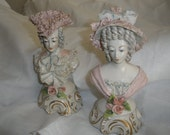 SALE, pair Cordey Porcelain, Trenton, New Jersey, 1940s, 'WONDERFUL design', Dresden Lace, Signed, Numbered, Insurance included in posting