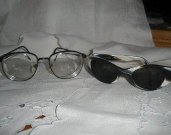 sale,1 pair left,Wonderful 1960s Prescriptions Black and Grey, ANIMAL, Zebra 'Sunglasses' , Excellent Condition