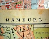 1898 Large Antique City Map of Hamburg (Altona), Germany