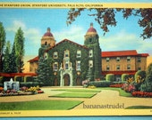 Early 1900s Postcard. The Stanford Union, Stanford University, Palo Alto, California