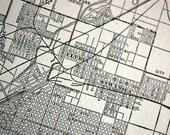 1922 Vintage Map of Denver, Colorado - Old Street Map of Denver - Vintage City Map - Old City Map