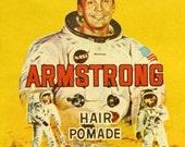 Circa 1969 Rare Vintage Ephemera. One Giant Leap for Hair Pomade. Neil Armstrong
