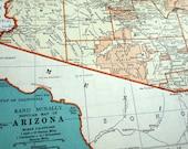 1937 Vintage Map of Arizona