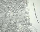 1937 Vintage City Map of San Francisco, California
