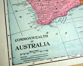 1903 Antique Map of the Commonwealth of Australia - Inset of Vicinity of Sydney - Australia Antique Map - Australia Commonwealth Antique Map