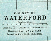 1905 Antique Map of County Waterford, Ireland - Ireland Antique Map - Waterford Antique Map - Ireland County Map