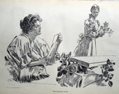 1907 Antique Charles Dana Gibson Print. The Morning Note