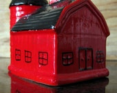 Early 1960s Little Red Barnhouse Salt and Pepper