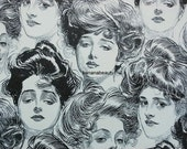 1906 Antique Charles Dana Gibson Print. Wallpaper for a Bachelor's Apartment