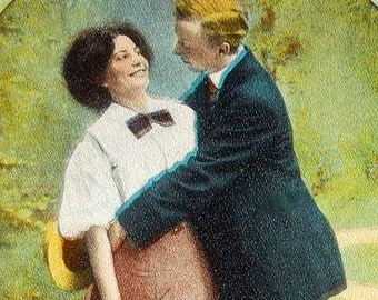 Early 1900s Funny and Romantic Postcard. Will You Marry Me