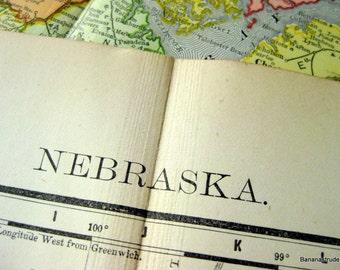 1895 Antique Map of Nebraska - Nebraska Antique Map