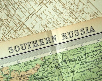 Vintage Map of Southern Russia - 1922 Antique Russia Map (Southern)