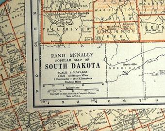 South Dakota Map Etsy - South dakota map