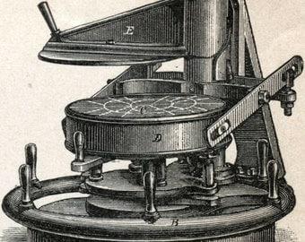 1894 German Antique Engraving on Breadmaking