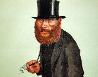 1869 Vanity Fair Caricature - W. E. Forstrer - Antique English Chromolithograph